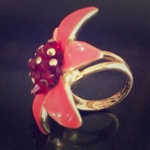 Kate Spade Ring size 5 Orange flower